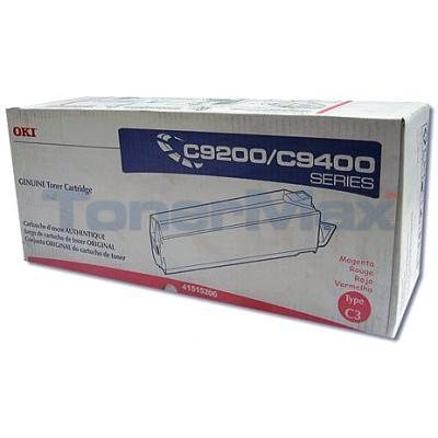 OKIDATA C9000 TYPE C3 TONER MAGENTA